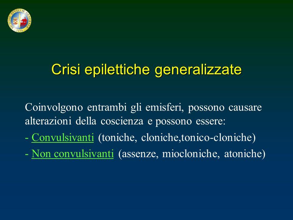 Crisi epilettiche generalizzate