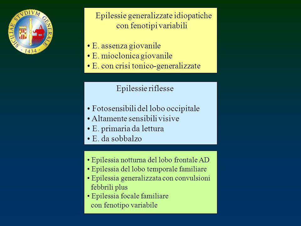Epilessie generalizzate idiopatiche con fenotipi variabili