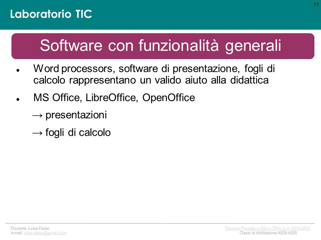 Software con funzionalità generali