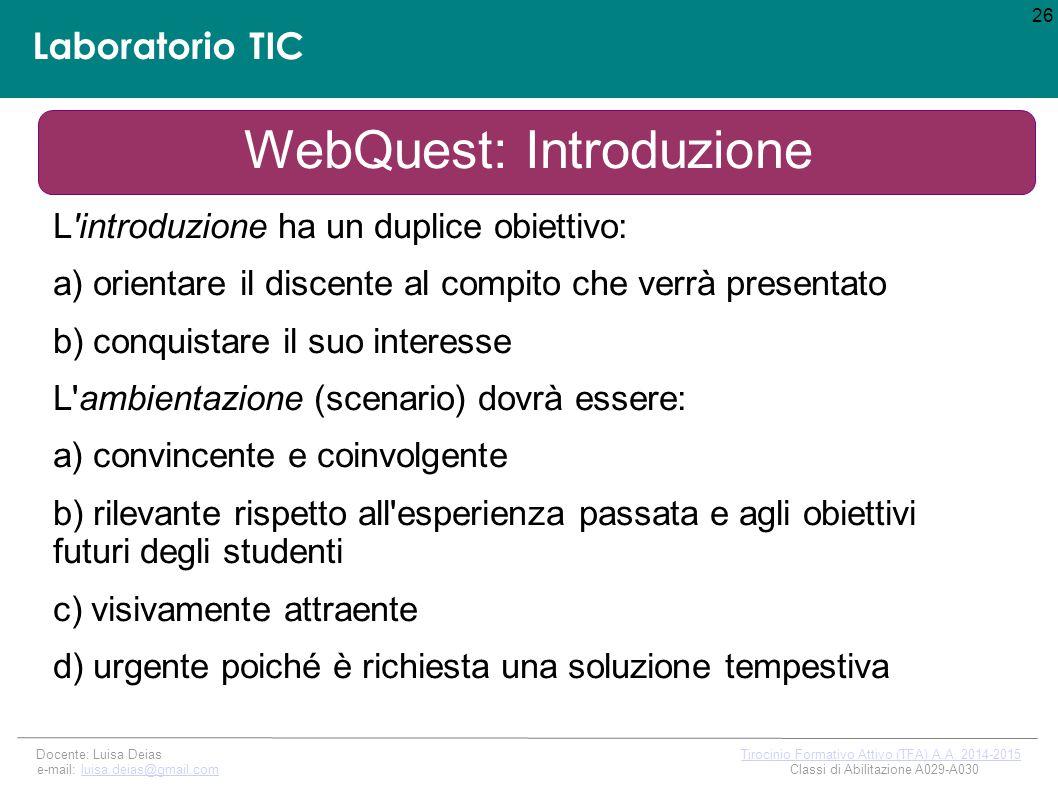 WebQuest: Introduzione
