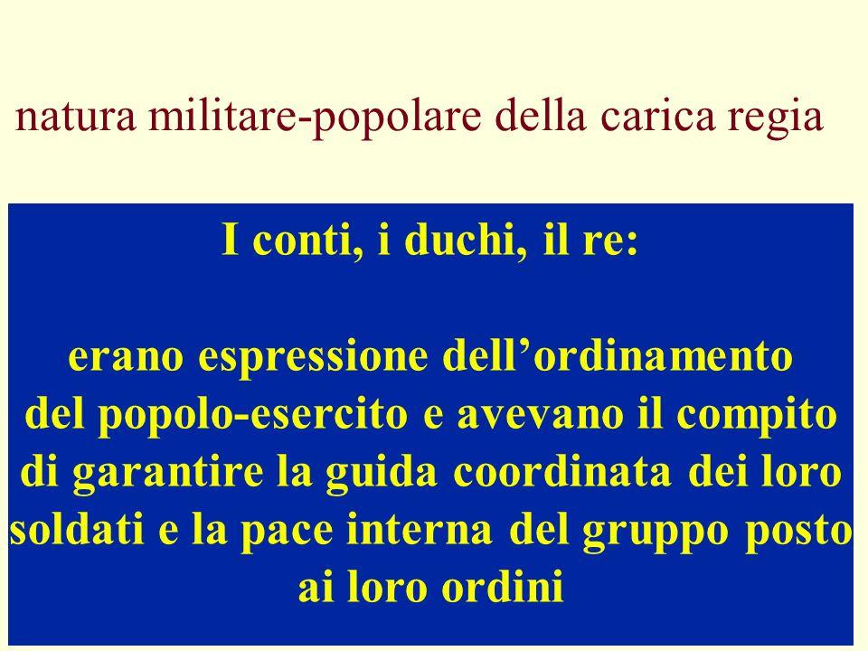 natura militare-popolare della carica regia