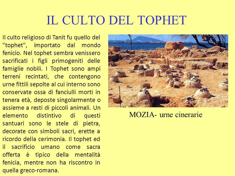 IL CULTO DEL TOPHET MOZIA- urne cinerarie