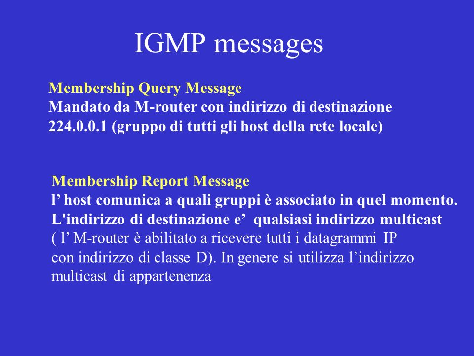 IGMP messages Membership Query Message