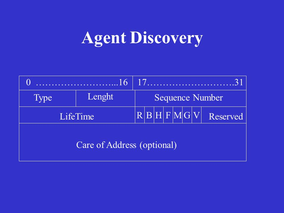 Agent Discovery 0 ……………………...16 17……………………….31 Type Lenght