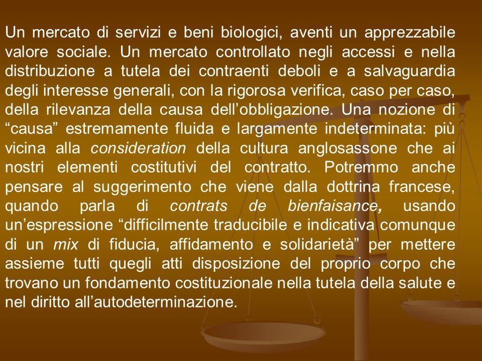 Un mercato di servizi e beni biologici, aventi un apprezzabile valore sociale.