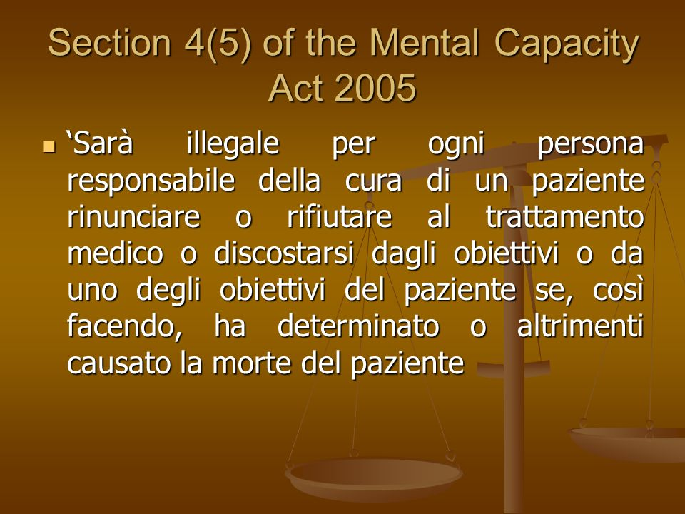 Section 4(5) of the Mental Capacity Act 2005