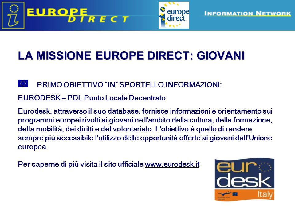 LA MISSIONE EUROPE DIRECT: GIOVANI