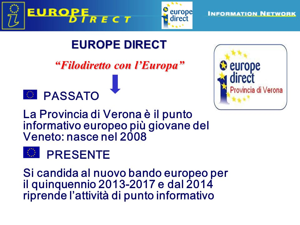 EUROPE DIRECT Filodiretto con l'Europa