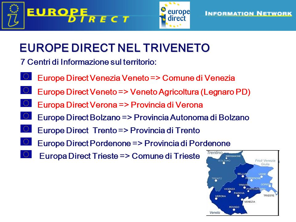 EUROPE DIRECT NEL TRIVENETO