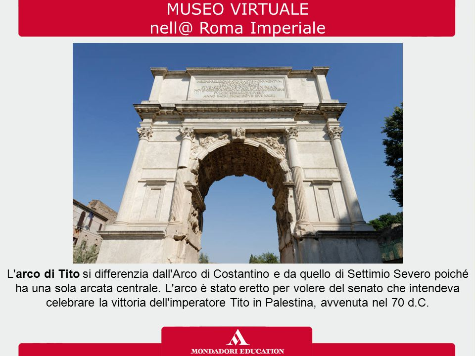 MUSEO VIRTUALE nell@ Roma Imperiale