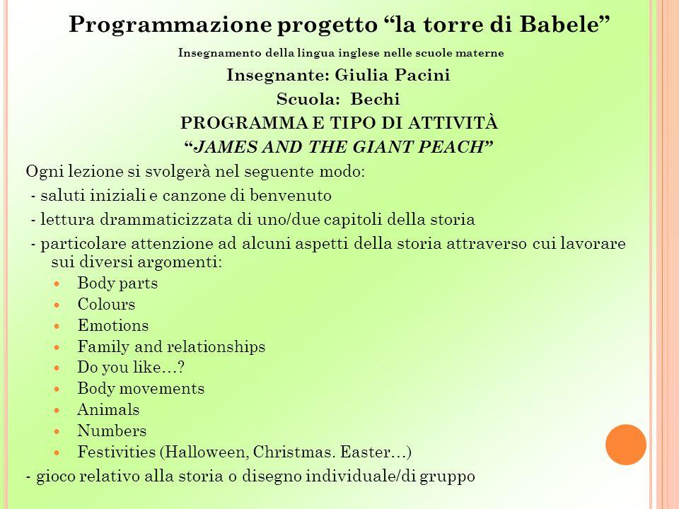 Programmazione progetto la torre di Babele