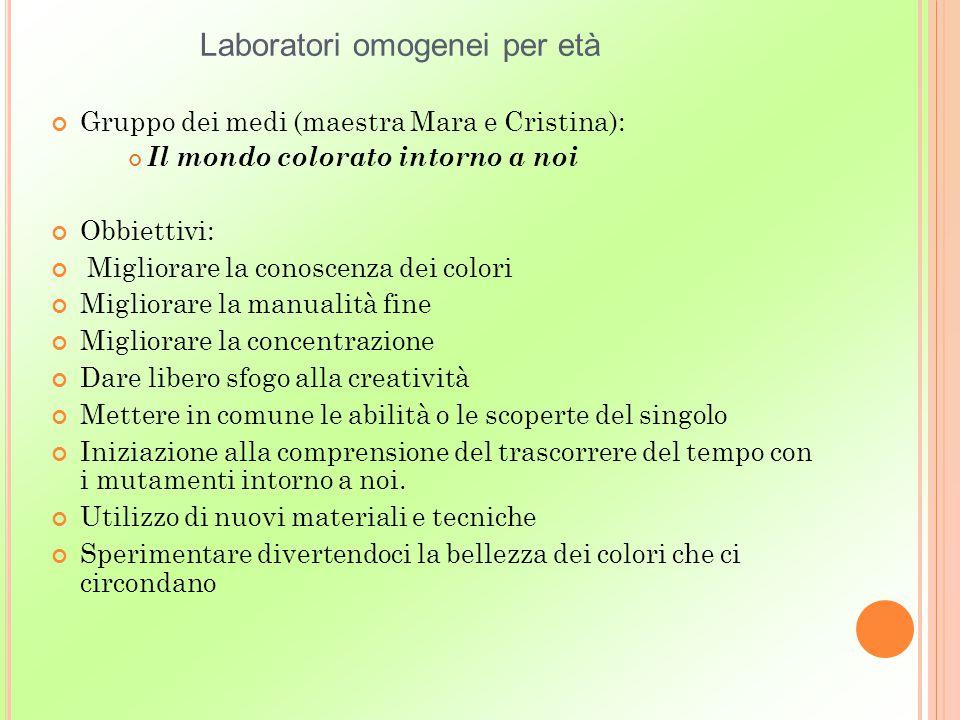 Laboratori omogenei per età