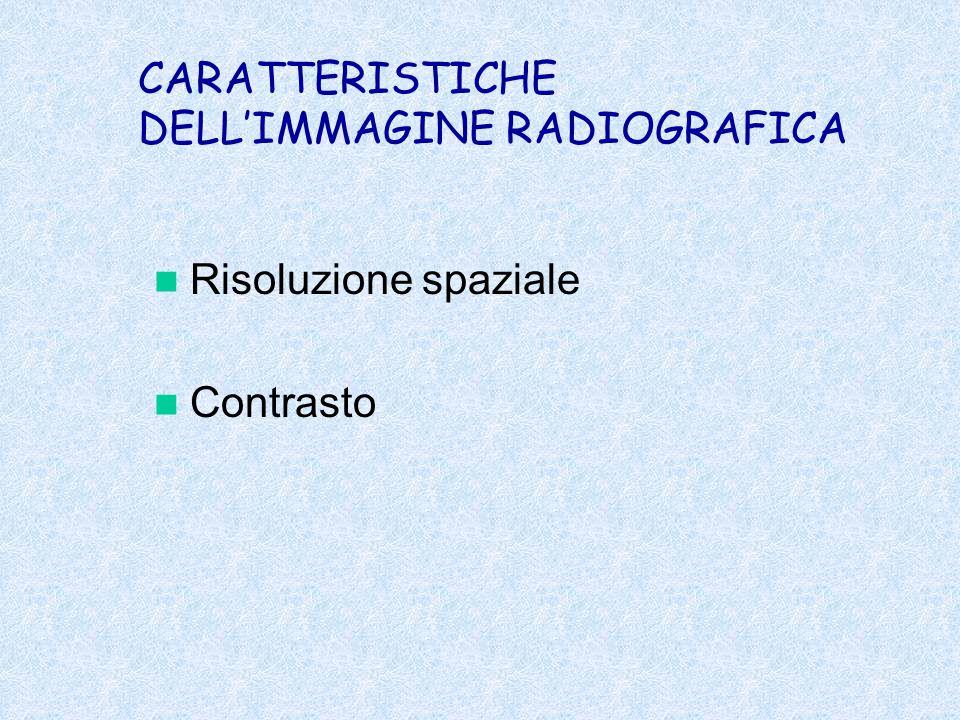 CARATTERISTICHE DELL'IMMAGINE RADIOGRAFICA
