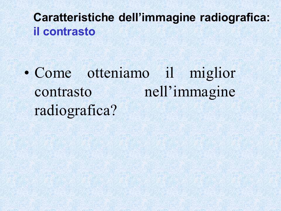 Come otteniamo il miglior contrasto nell'immagine radiografica