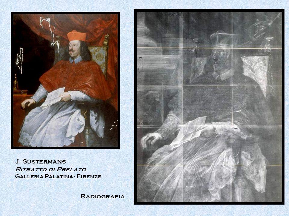 J. Sustermans Ritratto di Prelato Radiografia