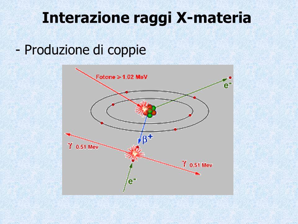Interazione raggi X-materia