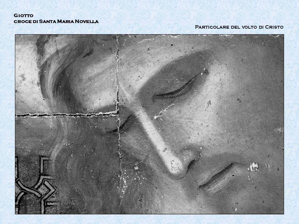 Giotto croce di Santa Maria Novella Particolare del volto di Cristo IR