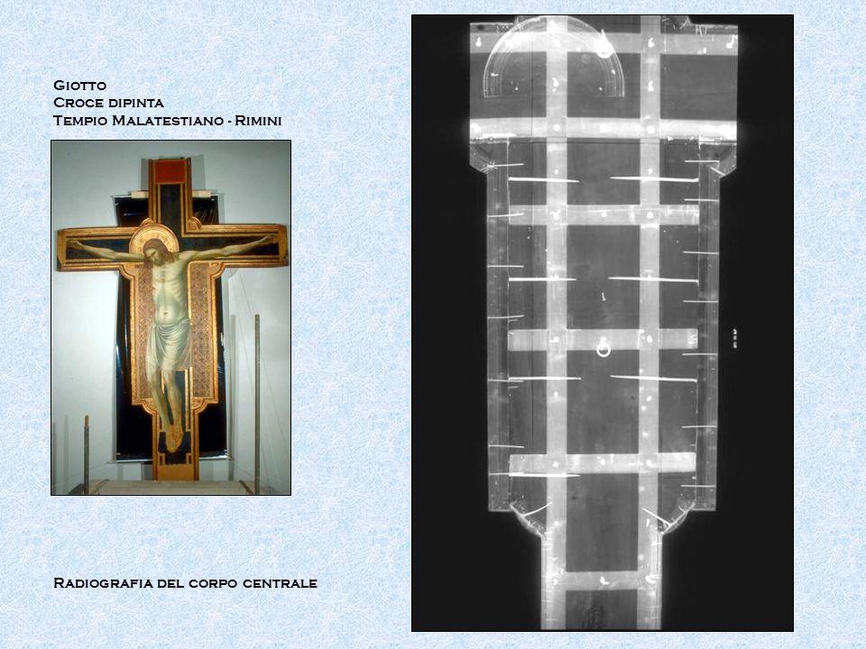 Giotto Croce dipinta Tempio Malatestiano - Rimini Radiografia del corpo centrale