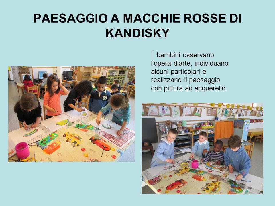 PAESAGGIO A MACCHIE ROSSE DI KANDISKY