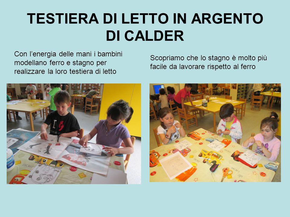 TESTIERA DI LETTO IN ARGENTO DI CALDER