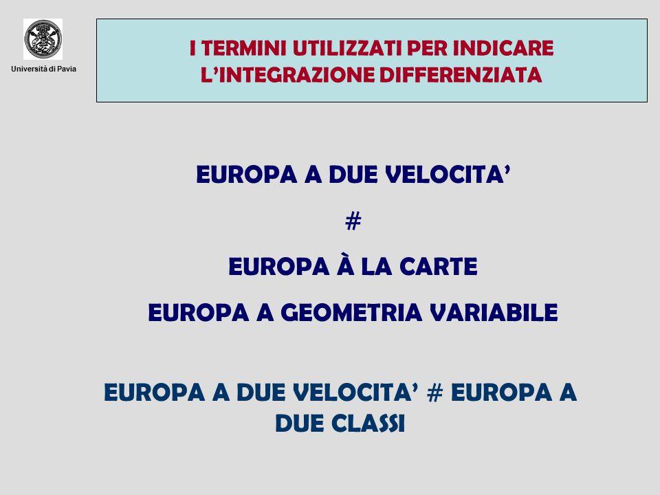 EUROPA A GEOMETRIA VARIABILE