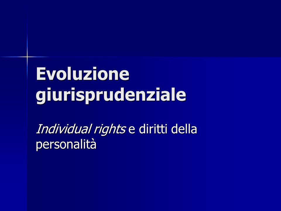Evoluzione giurisprudenziale