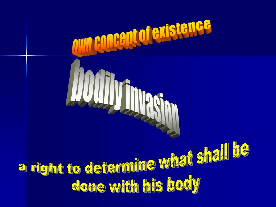 own concept of existence