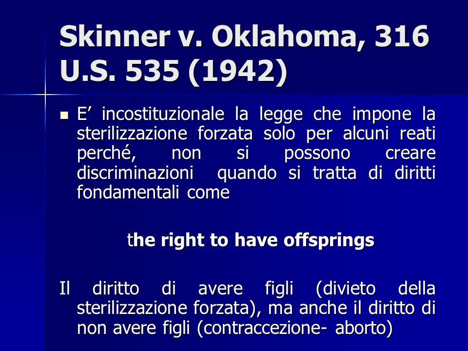 Skinner v. Oklahoma, 316 U.S. 535 (1942)