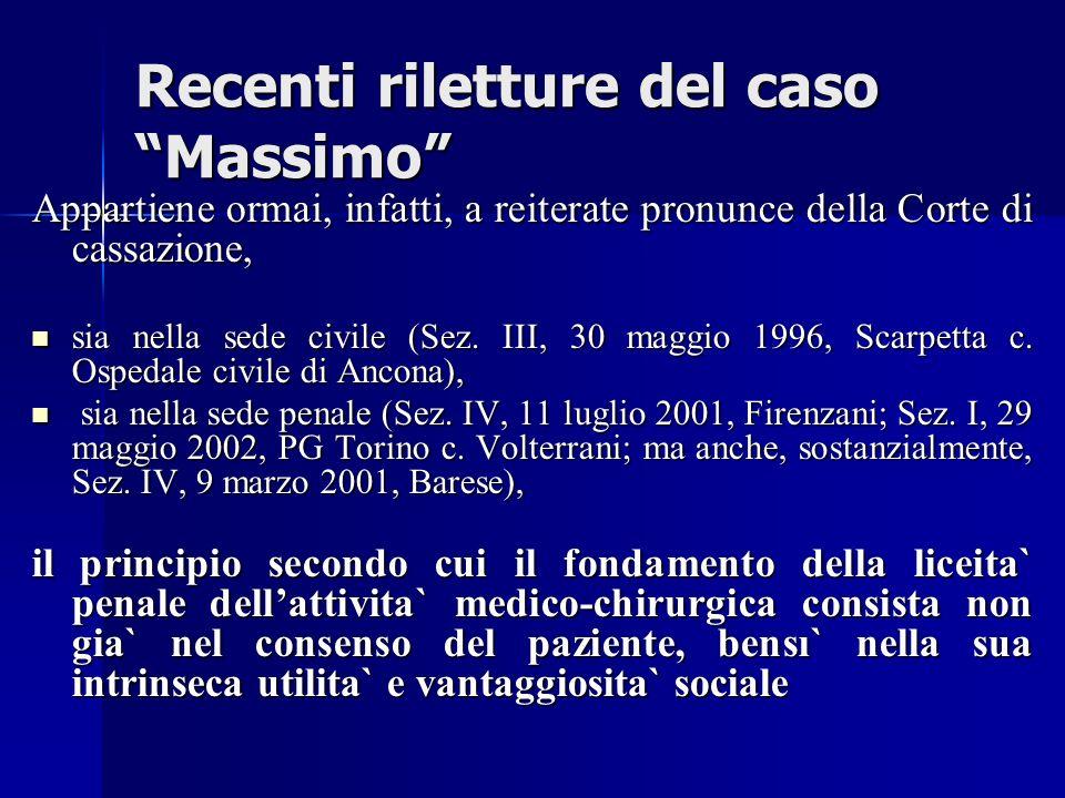 Recenti riletture del caso Massimo
