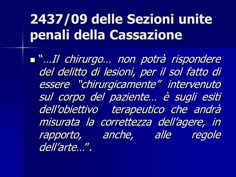 2437/09 delle Sezioni unite penali della Cassazione