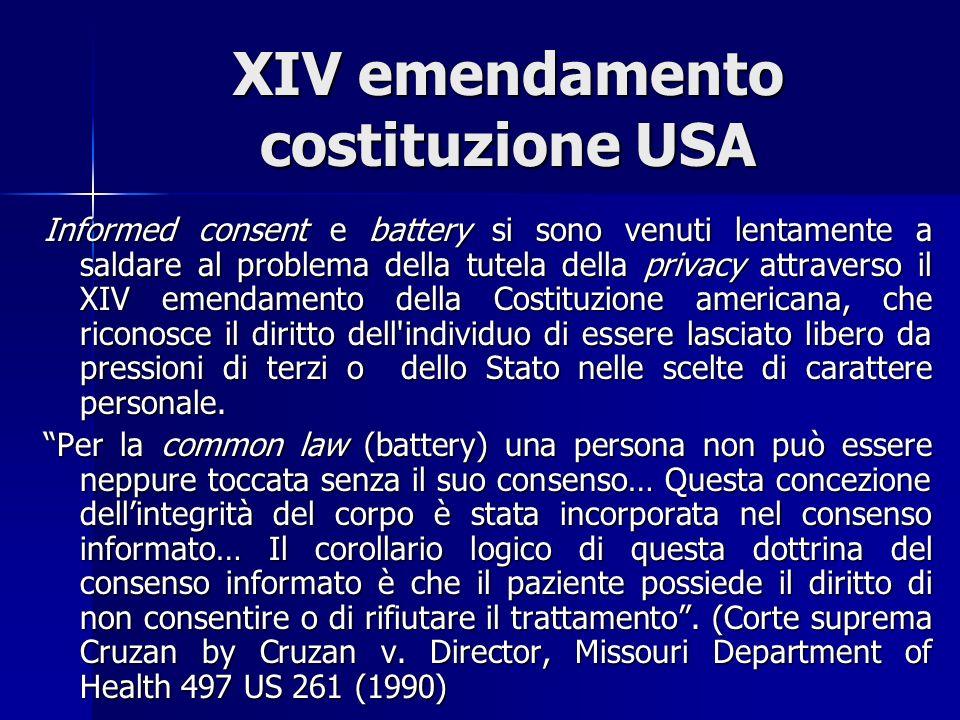 XIV emendamento costituzione USA