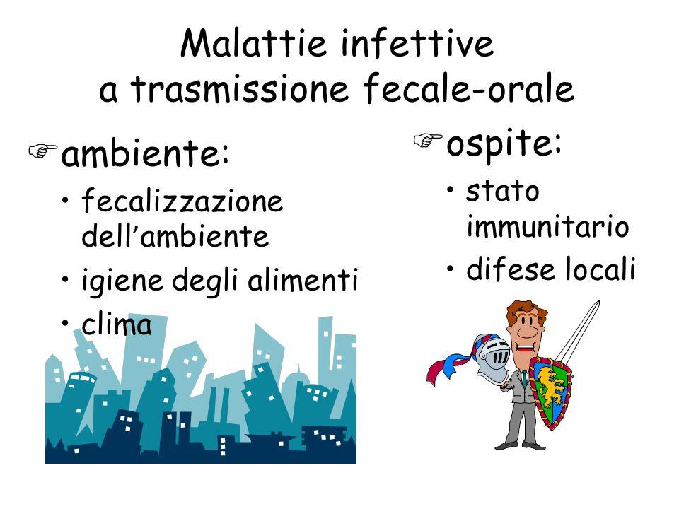 Malattie infettive a trasmissione fecale-orale