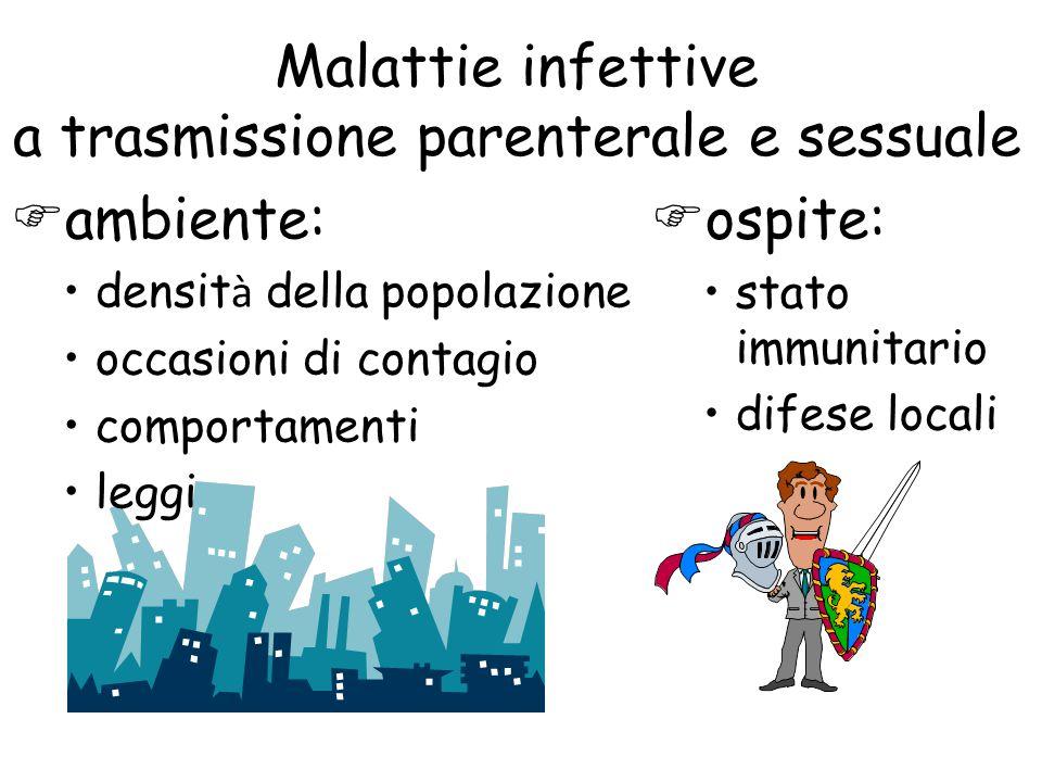 Malattie infettive a trasmissione parenterale e sessuale