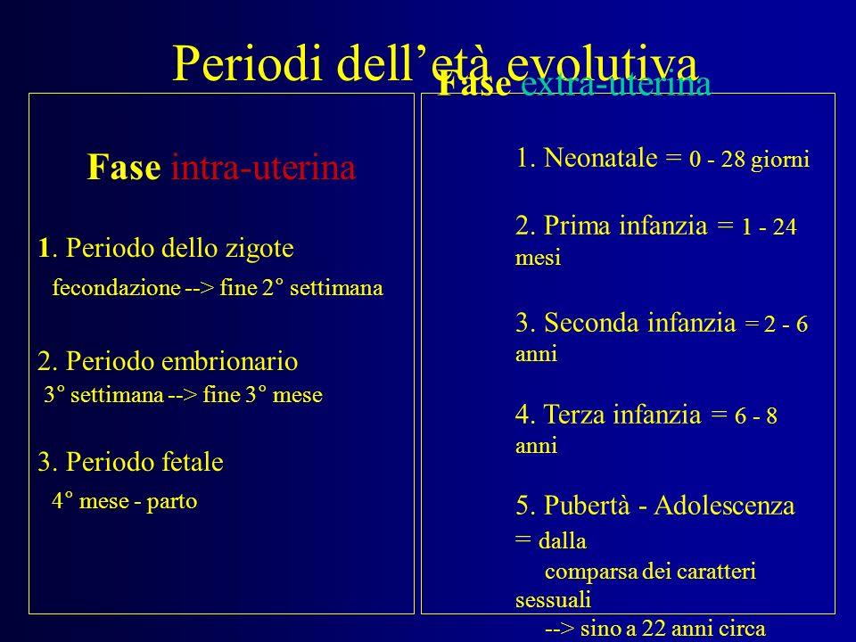 Periodi dell'età evolutiva