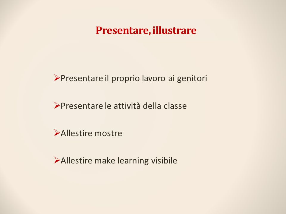 Presentare, illustrare