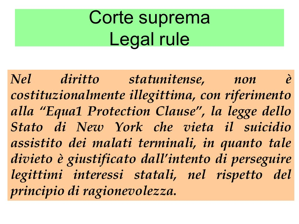 Corte suprema Legal rule
