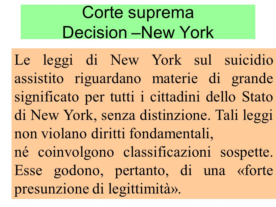Corte suprema Decision –New York