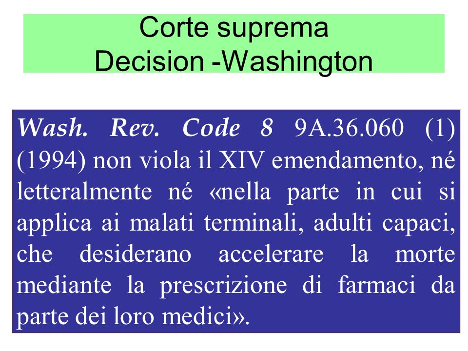 Corte suprema Decision -Washington