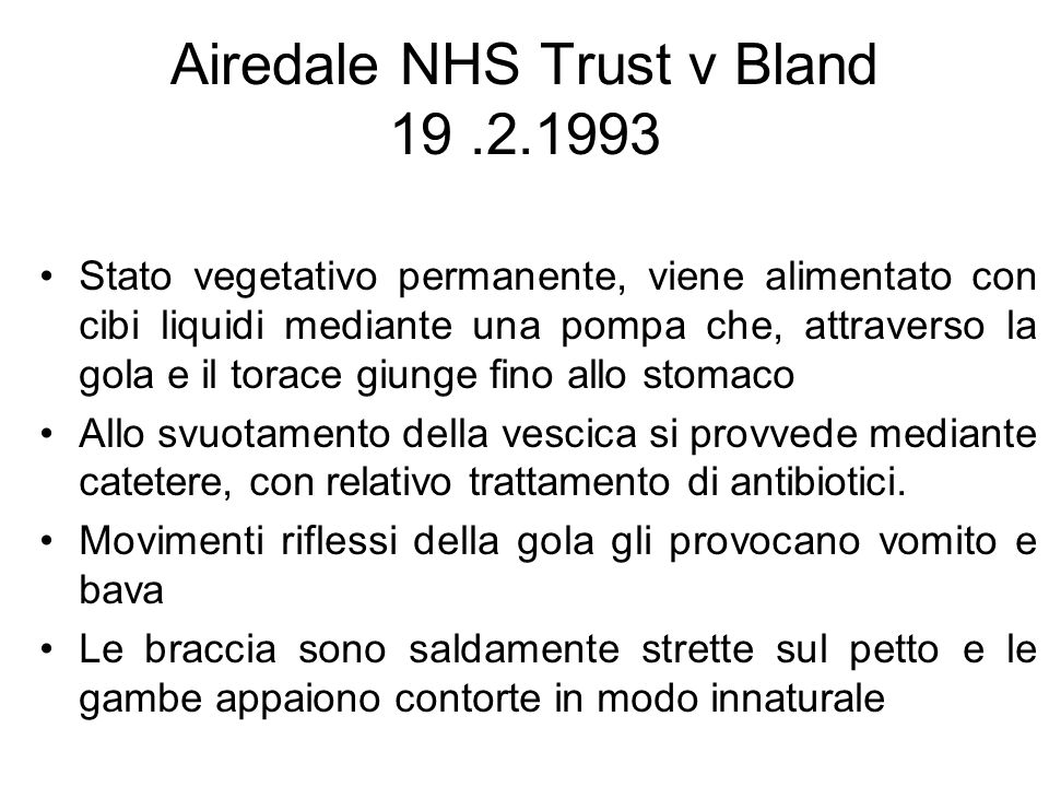 Airedale NHS Trust v Bland 19 .2.1993