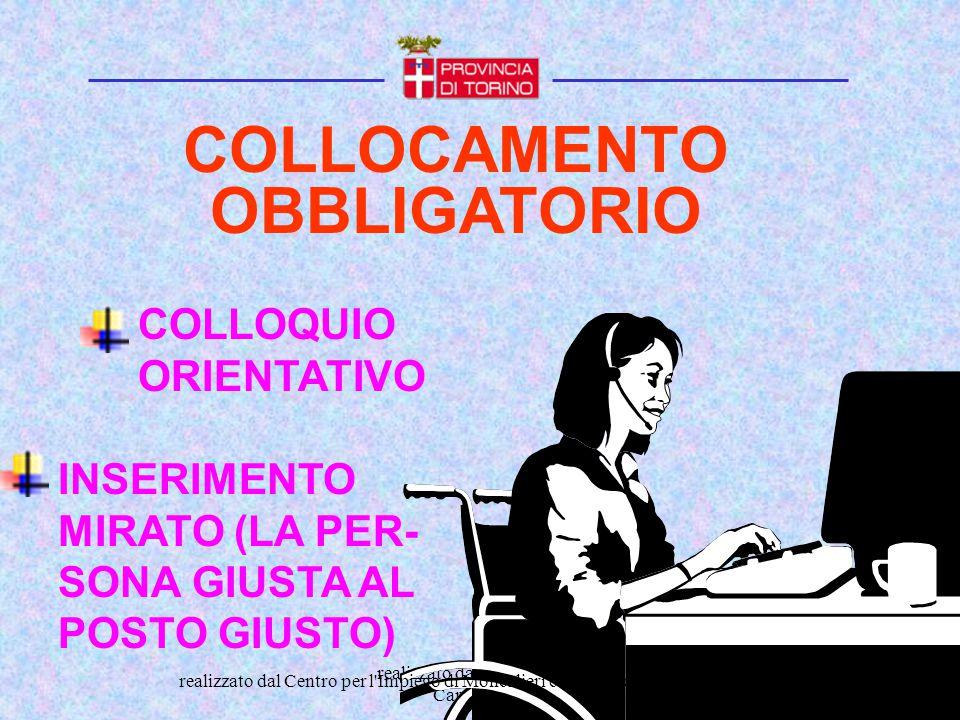 COLLOCAMENTO OBBLIGATORIO