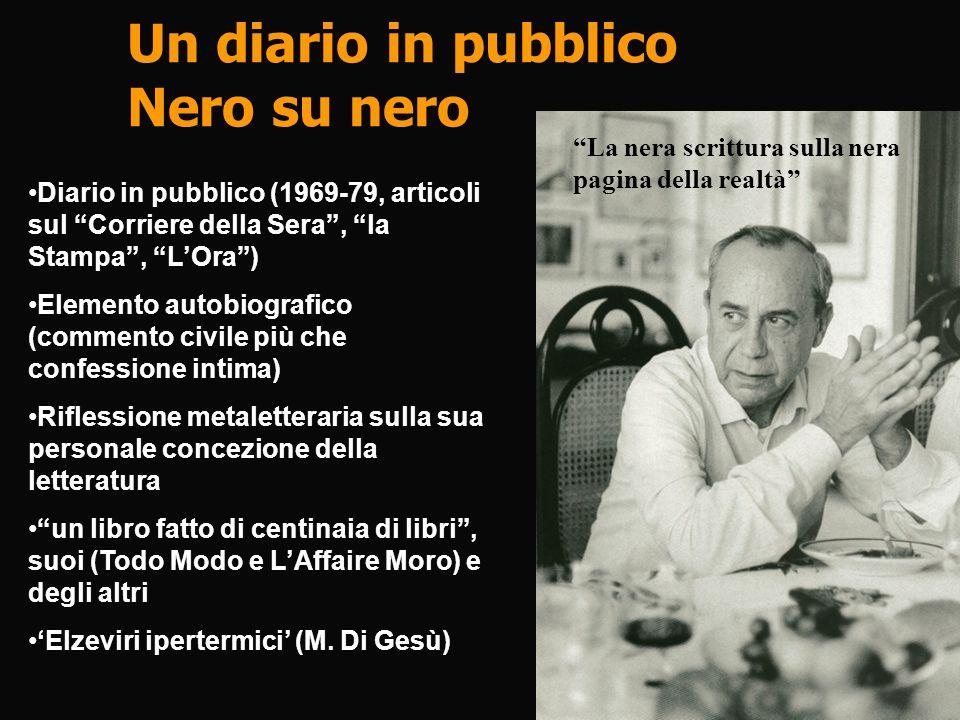 Un diario in pubblico Nero su nero