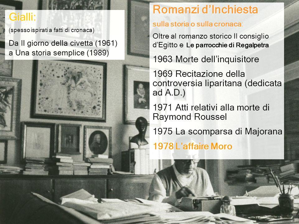 Romanzi d'Inchiesta Gialli: 1963 Morte dell'inquisitore