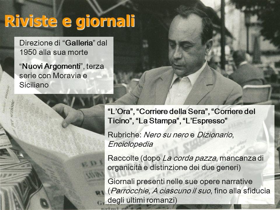 Riviste e giornali Direzione di Galleria dal 1950 alla sua morte