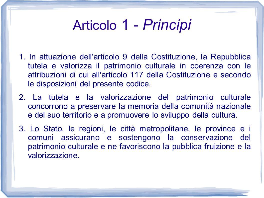 Articolo 1 - Principi