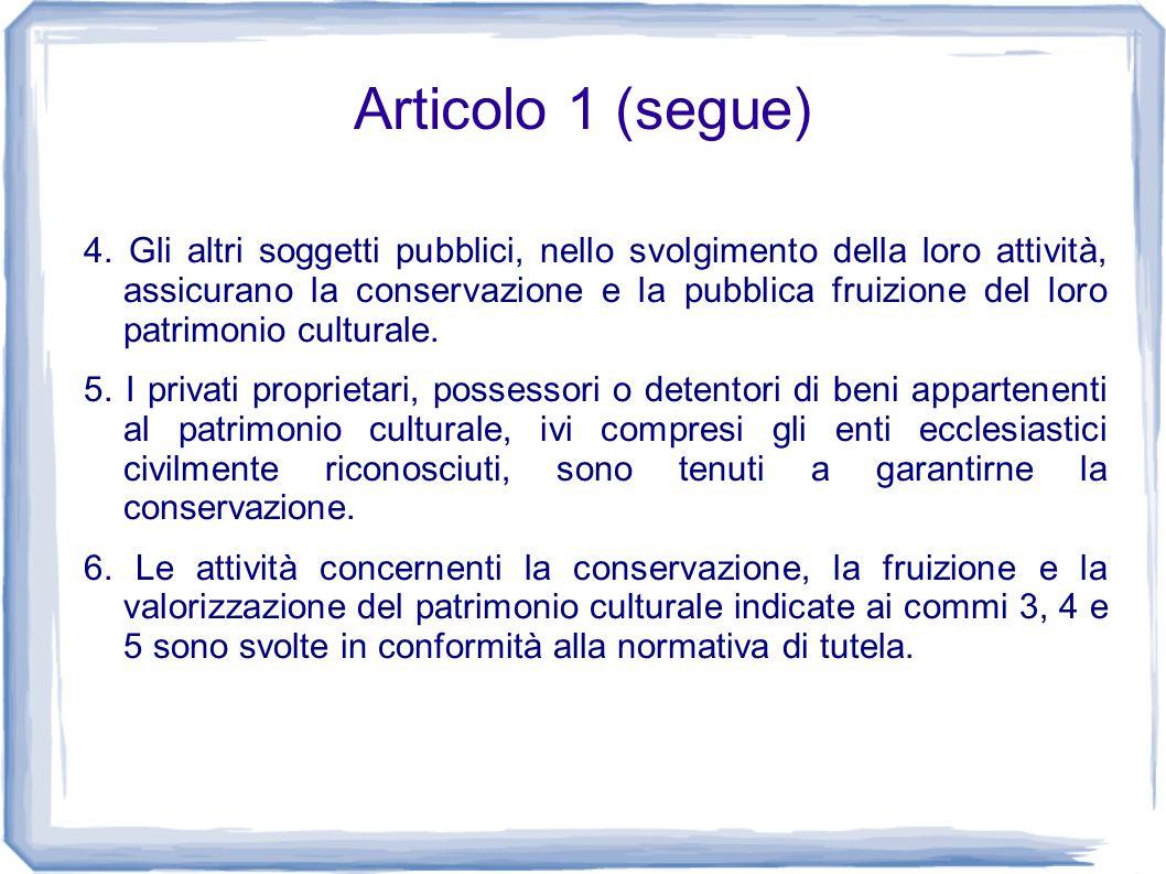 Articolo 1 (segue)