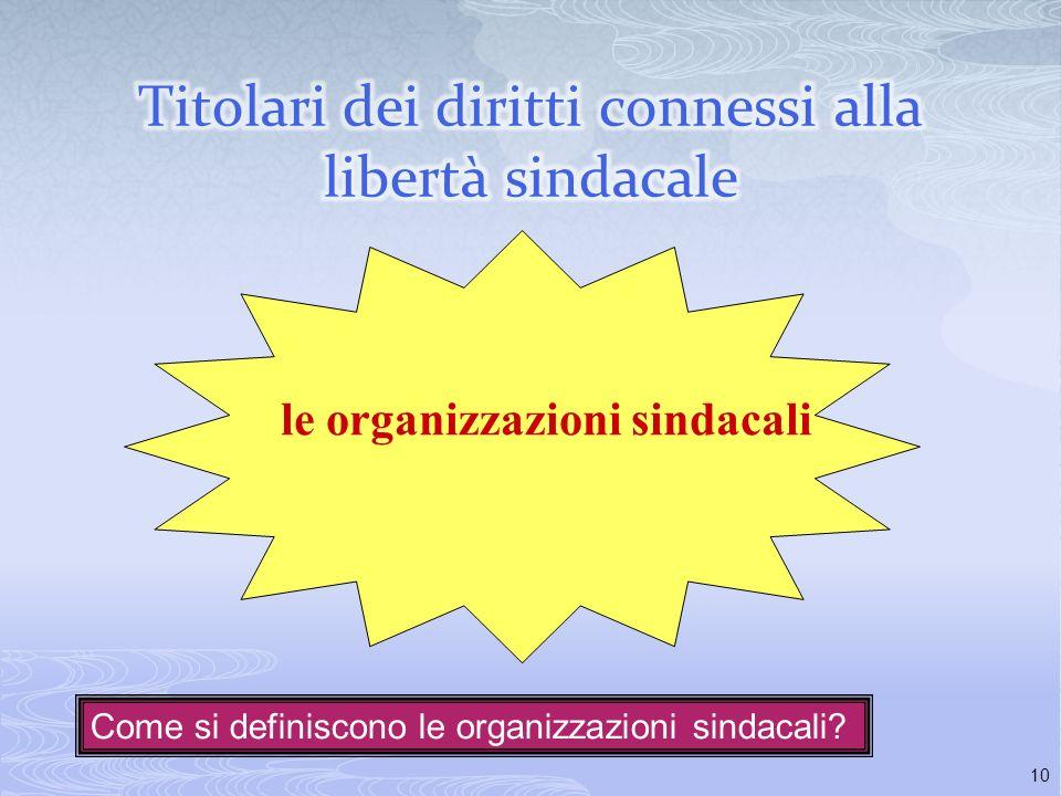 Titolari dei diritti connessi alla libertà sindacale