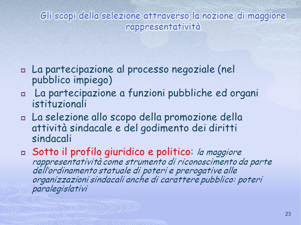 La partecipazione al processo negoziale (nel pubblico impiego)