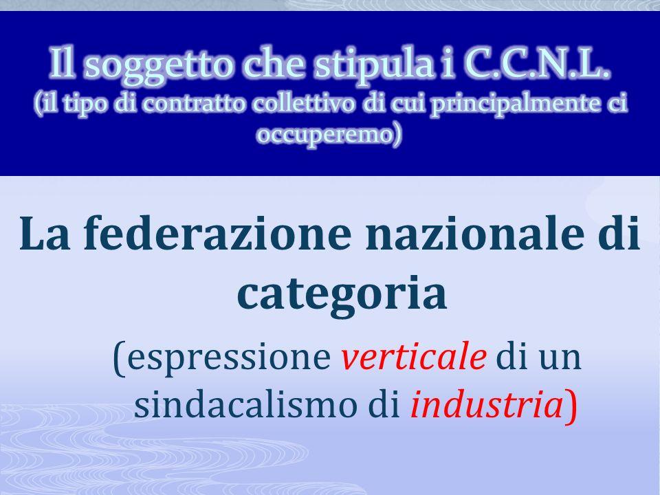 La federazione nazionale di categoria