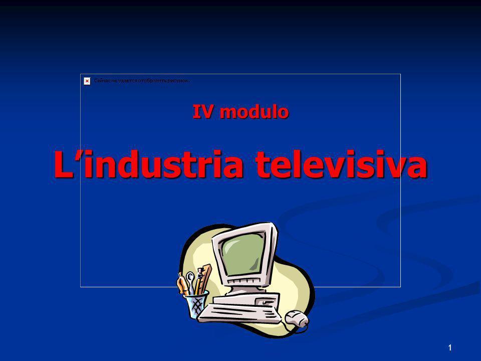 IV modulo L'industria televisiva