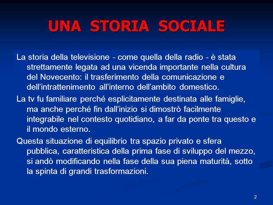 UNA STORIA SOCIALE